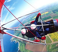 Microlight Flights and Parachuting on holiday in Normandy