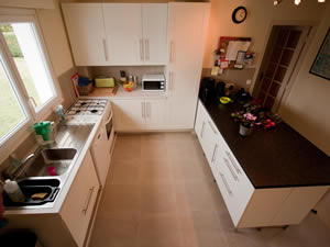Fully equipped kitchen in large Normandy beach house