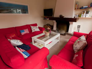 Large lounge in Normandy rental beach house