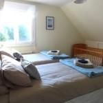 Bedroom in large Normandy rental beach house
