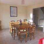 Normandy rental large beach house dining area
