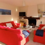 Normandy rental large beach house sitting room